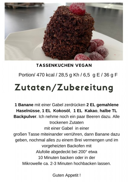 Tassenkuchen Vegan